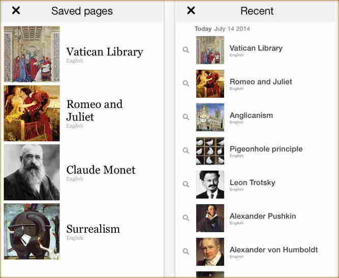 Use Update wikipedia for iPhone and iPad