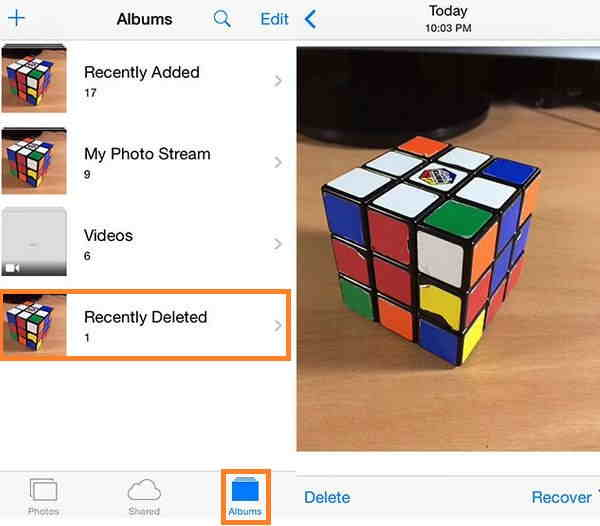 iOS 8 options to recover deleted photos from your iPhone and iPad