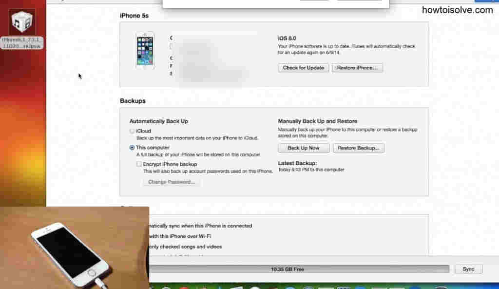 installed iOS 8 Device - go to downgrade iOS 8 to iOS 7