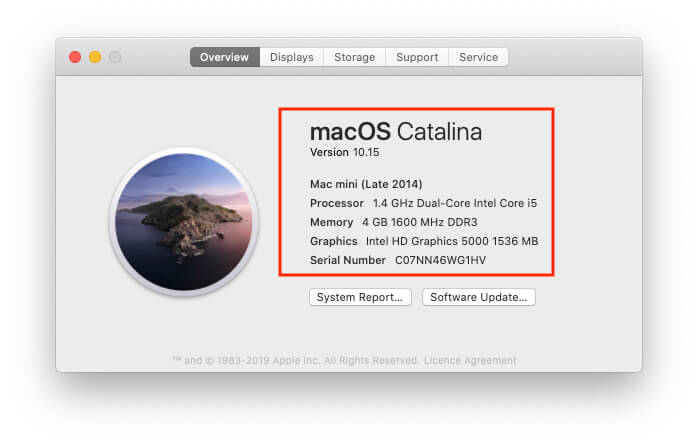 know the System Detail on Mac