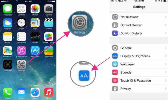 change Text Size in iOS 8 and iPhone 6