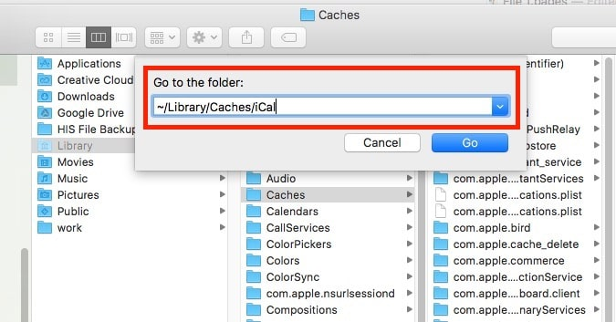 2 Find Folder under finder on Mac