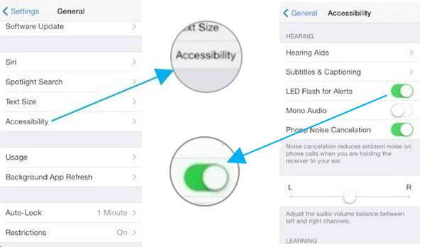 How to enable flashlight samsung s5