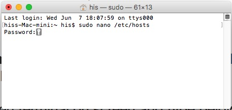 3 Open Host file using Terminal on Mac