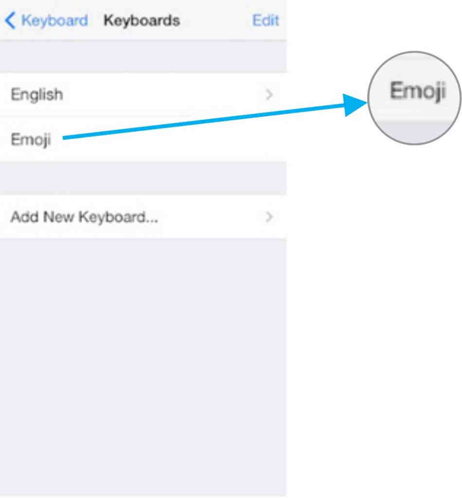 How to enable emoji in iPhone