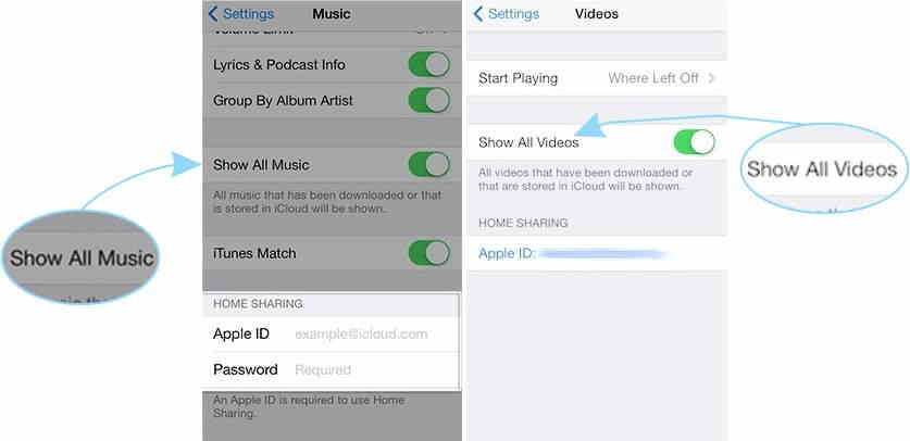 Enable setting for Stream videos or movies on iPhone and iPad