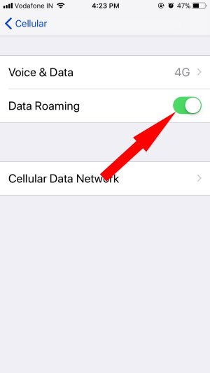 6 Enable and Disable Data Roaming on iPhone