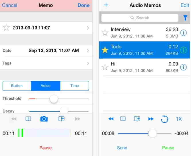 Audio Memos Pro - Best recorder app for iPhone and ipad
