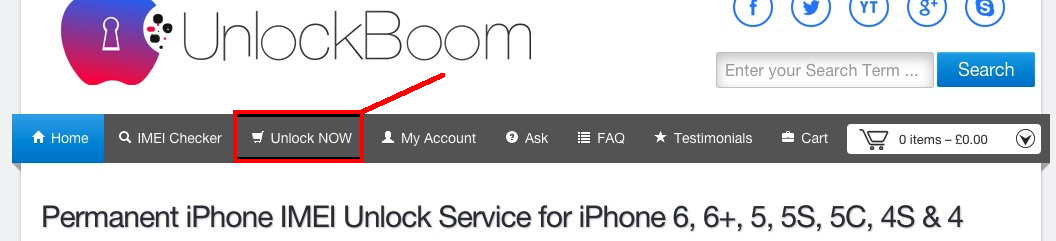 Unlock your iPhone from list of device available