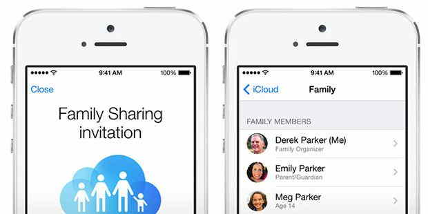 Detail steps for Setup family sharing in iOS 8 - iPhone and iPad