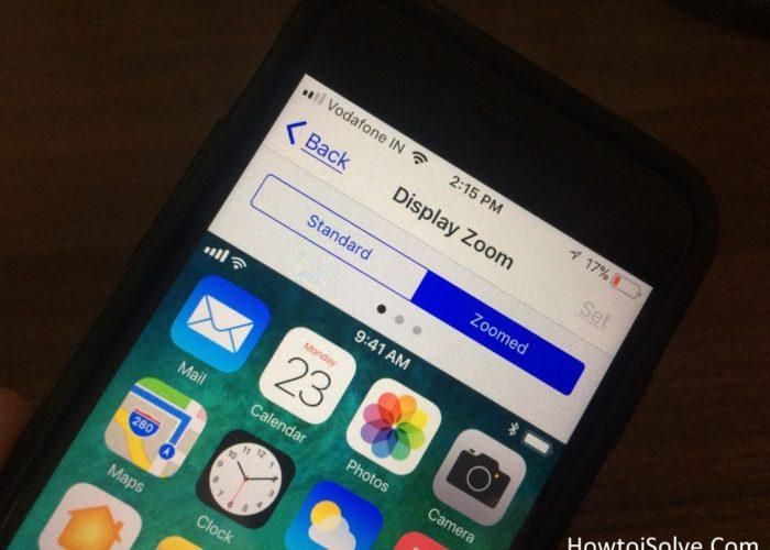 Enable Display Zoom on iPhone