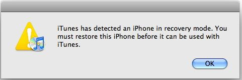 fix error 3194 - message by iTunes