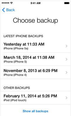 Find and restore old backup in iPhone and iPad