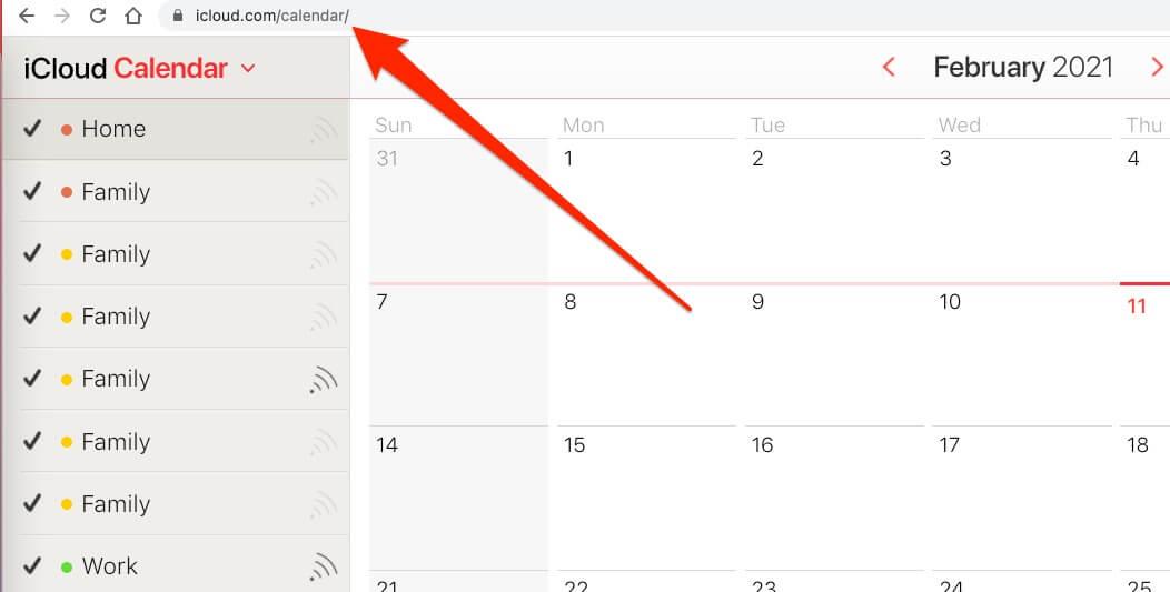 Open Online Apple Calendar on Browser Mac
