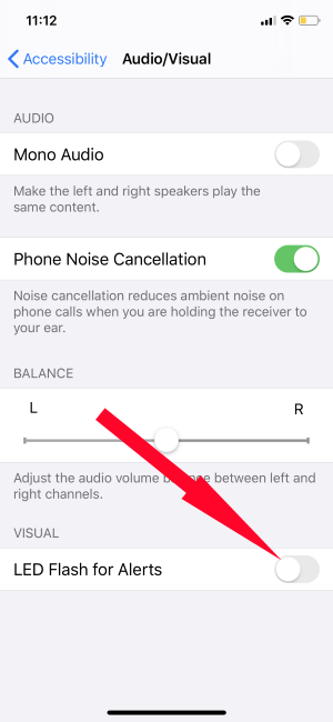 Turn on LED Flash Alerts on iPhone