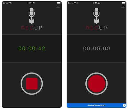 RaceUp Audio Recorder for iPhone