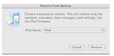 Restore old beckup to iPhone and iPad from iTunes on Mac and Windows