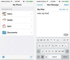 Without Internet, Send Message/Files in iPhone from any Device