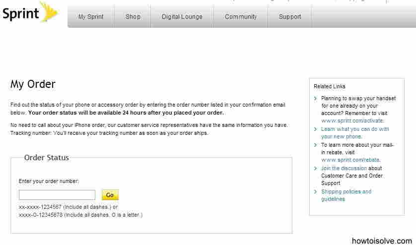 Sprint - Track Pre order status for iPhone 6 and iPhone 6 plus