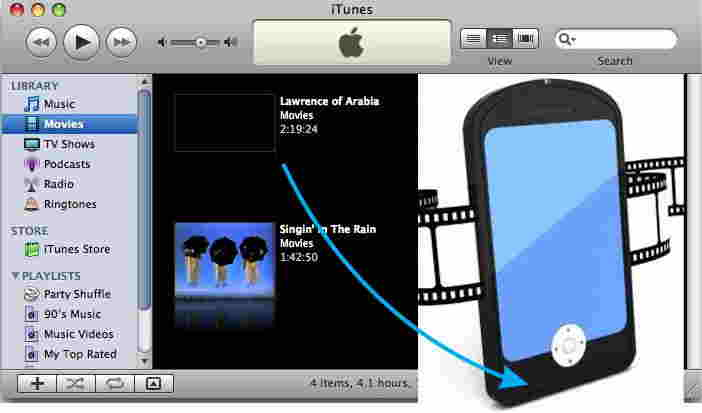 Stream movies from iTunes to iPhone and iPad
