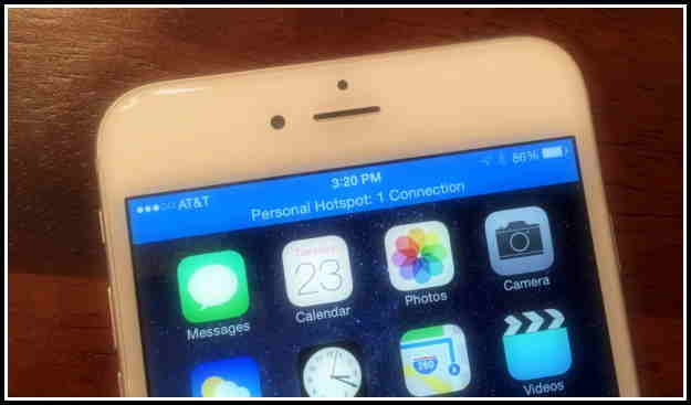 enable Personal hotspot in iPhone 6