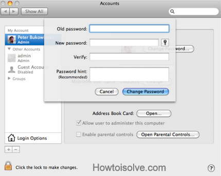 Add new password in this Mac window