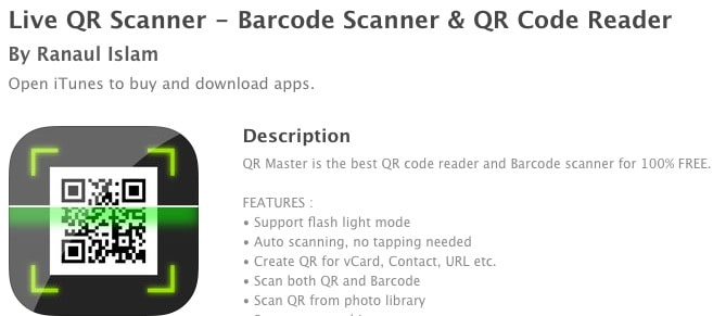 1 Live QR Scanner for iPhone and iPad