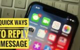 1 Quick Reply iMessage on iPhone and iPad