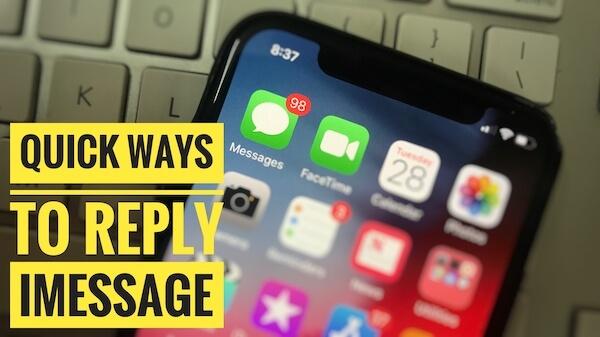 1 Быстрый ответ iMessage на iPhone и iPad