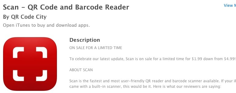 2 Scan - QR Code and Barcode Reader for iPad and iphone