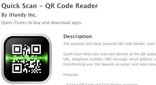qr code reader for iphone 4s