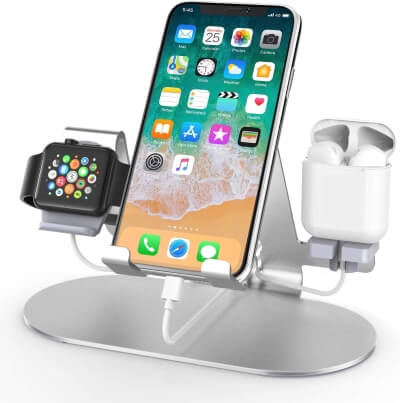 3 in 1 Aluminum Charging Station for Apple Watch Charger