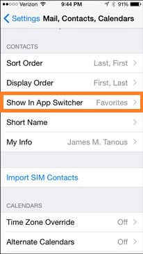 option for Show in app switcher