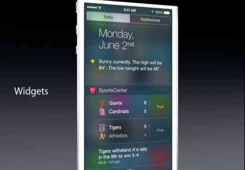Best today view widget app for iOS 8 that can accessible in toady view notification