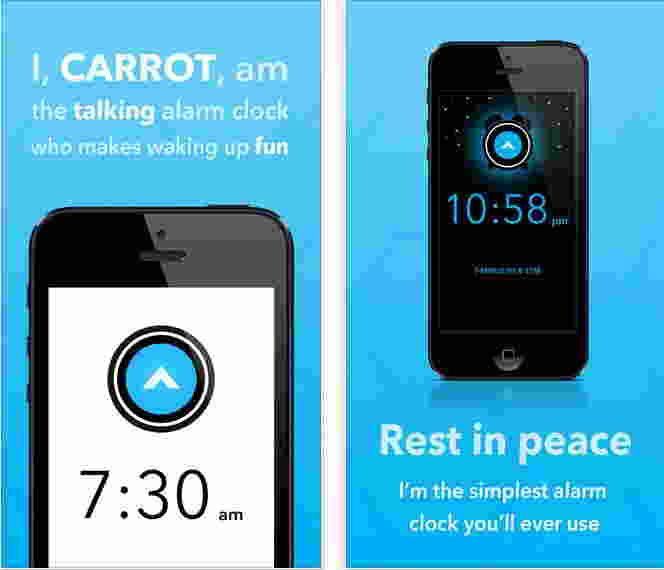 Carrot Alarm apps for iPhone and iPad