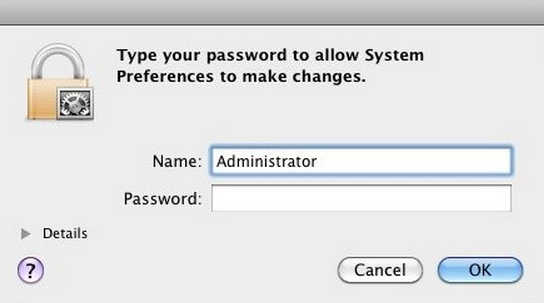 crack admin password mac