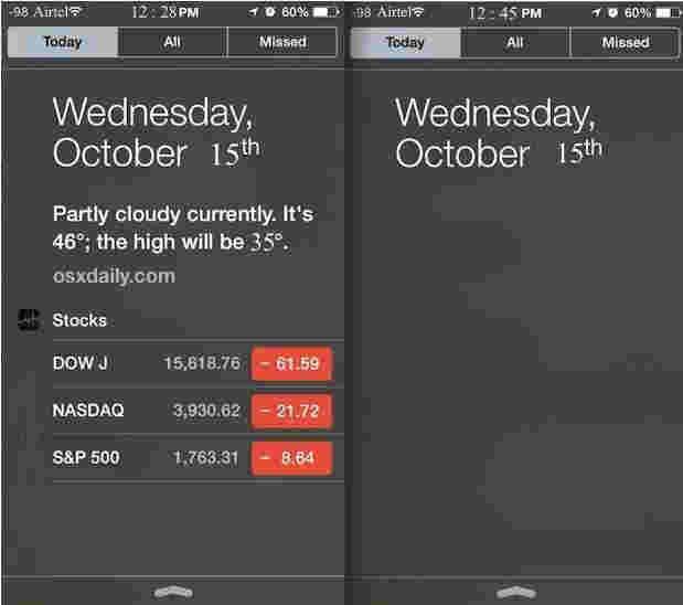 Customized Today Widget in iOS 8 iPhone and iPad