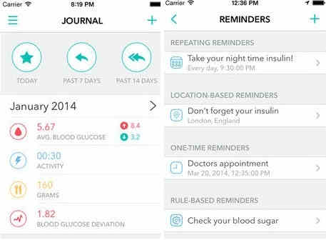 Best sugar checker app for iPhone - Diabetik