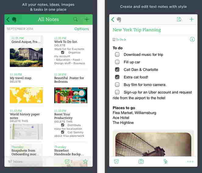 Evernote Note - Best Best Note apps for iPhone and iPad
