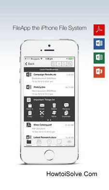 FileApp one of the best file manager apps for iOS 8