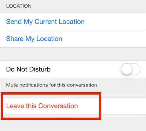 inside details Leave this conversation option.