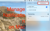 Manage Notification on Mac