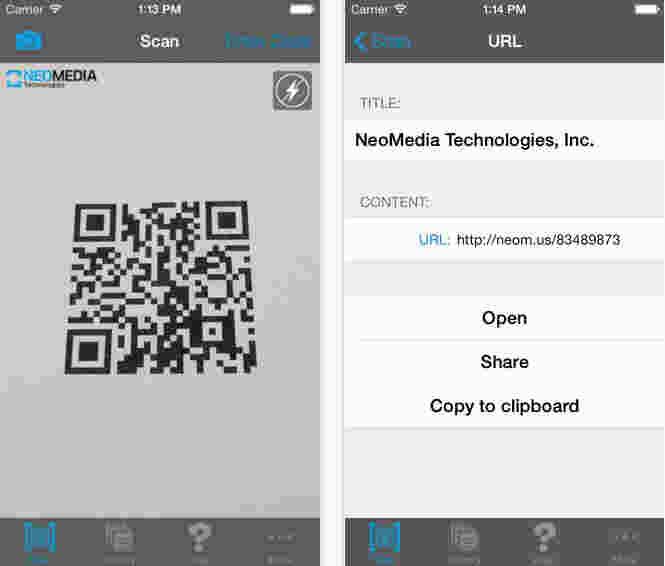 NeoReader Scanner for all code reader
