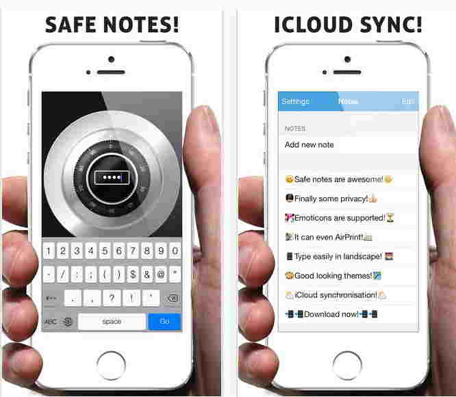 Safe note best app for iPhone and iPad