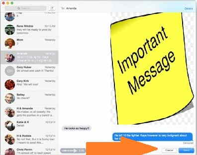 Send Message audio and text to iOS