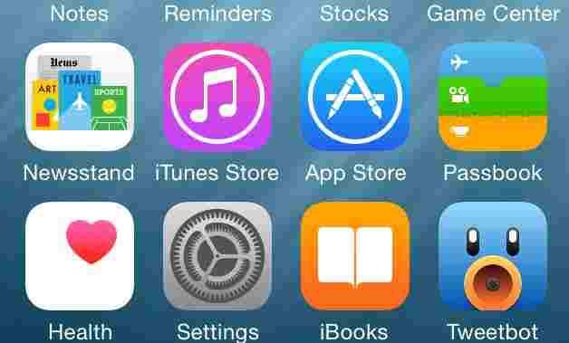 Setting app on iOS 8 iPhone and iPad