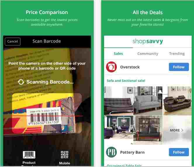 Shop Savvy free barcode scanner app Barcode Scanner apps for iPhone