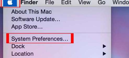 tap on apple Menu - System Preference