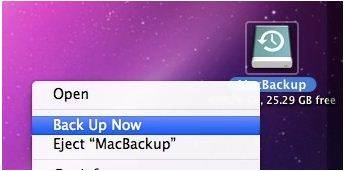 Time Machine icon on your Mac desktop