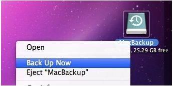 Time Machine icon on your Mac desktop